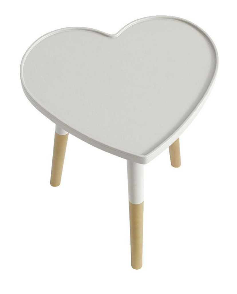 Heart shaped side table