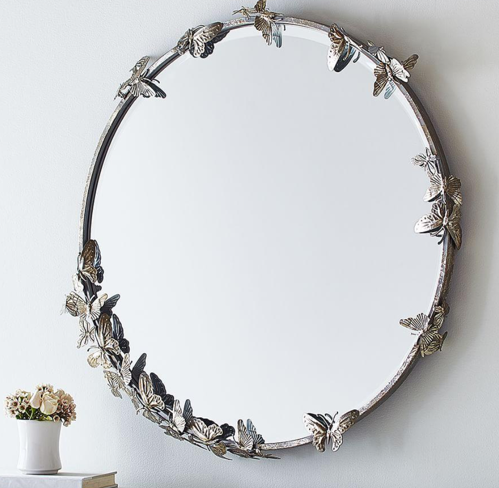 Metal butterflies mirror