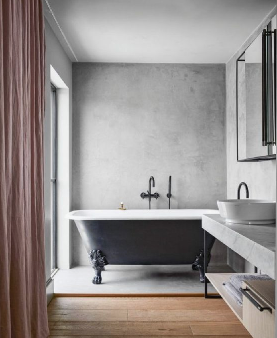 Concrete wall bathroom 2019 home tre