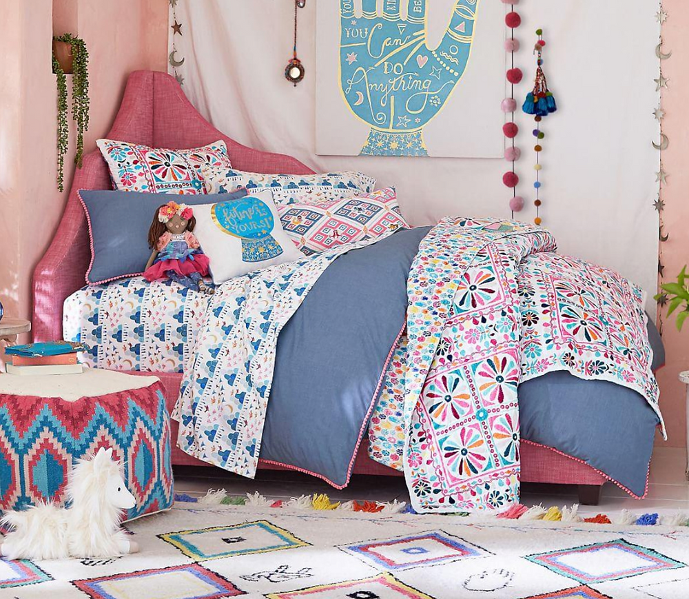 Pottery barn kids , pink and denim