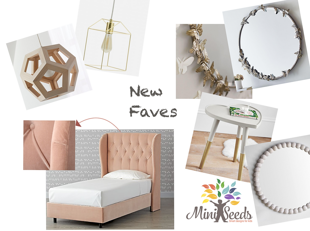 Mood board for a girl's room