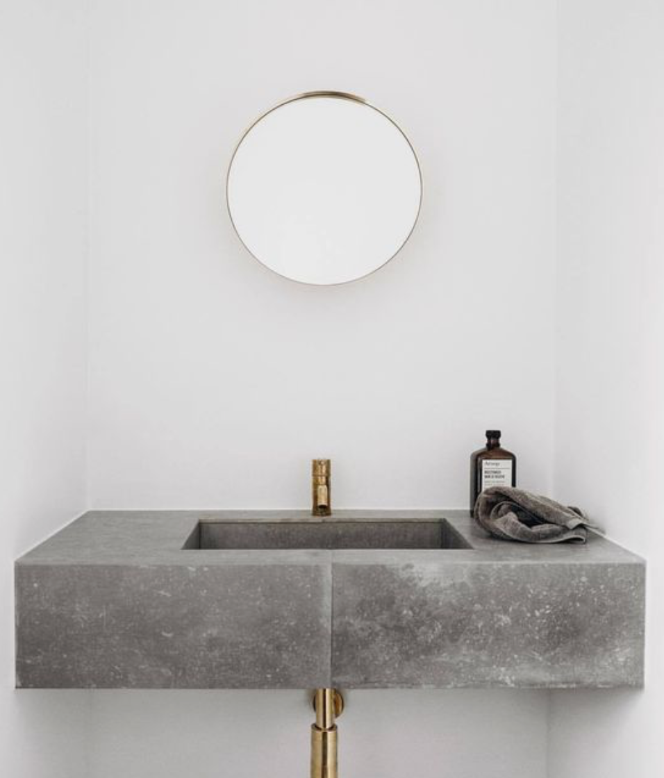 2019 home trends Concrete sink