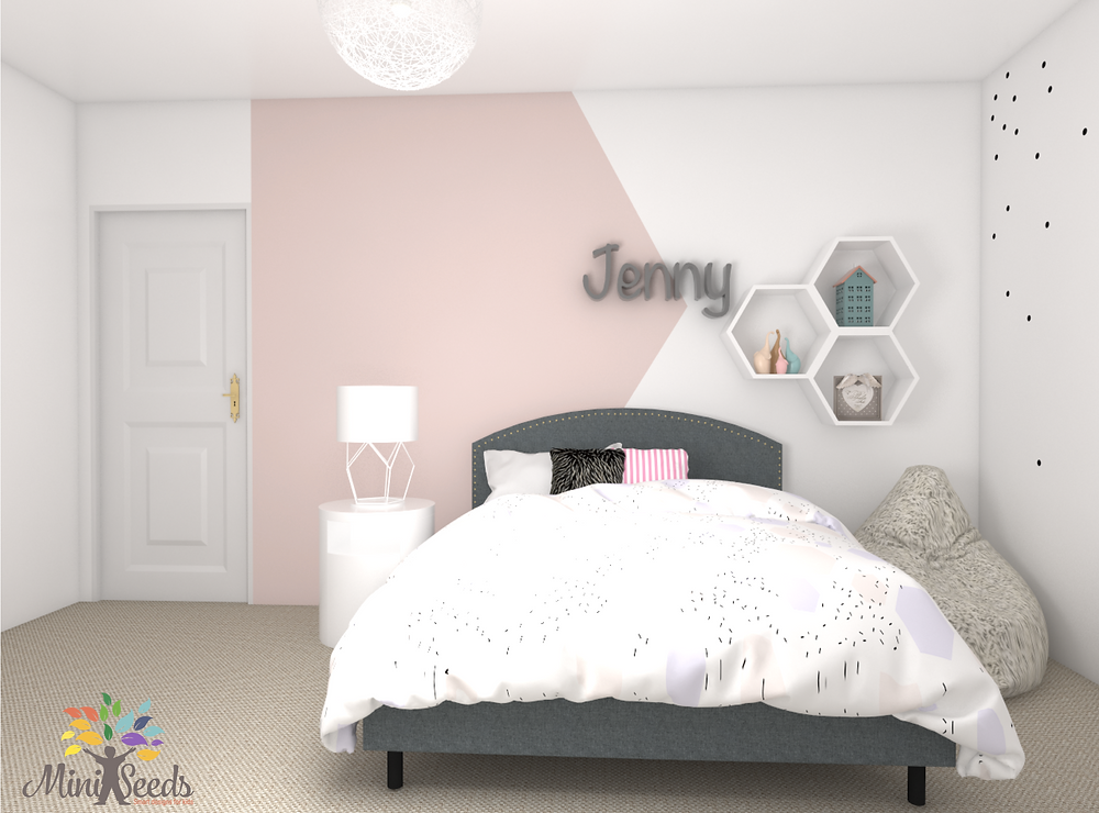 interior decor for a girl's room
