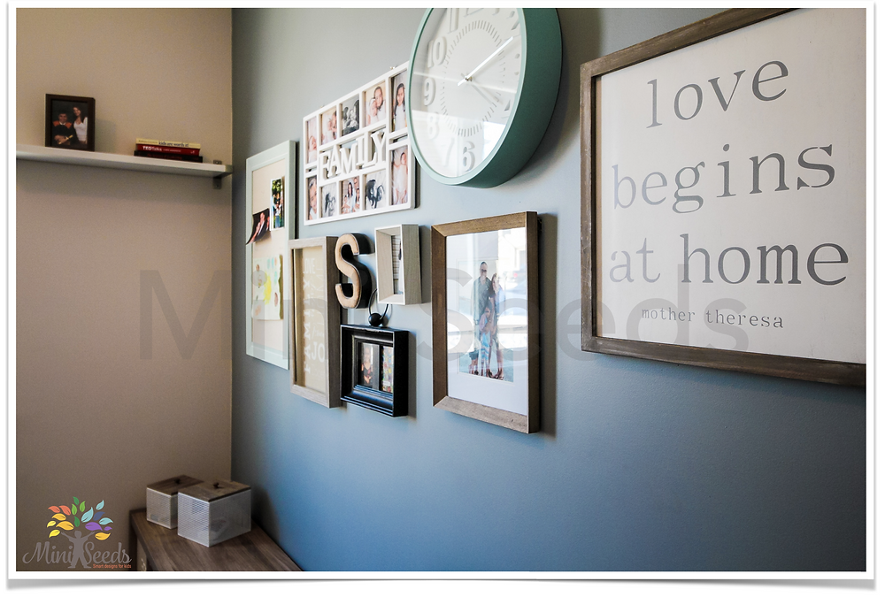 Wall gallery home office