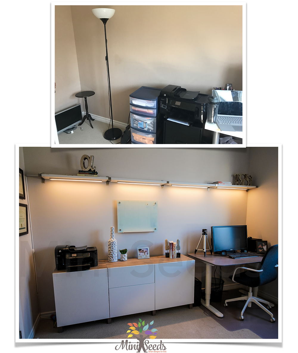 Before and after home office design