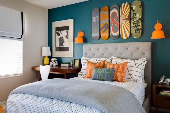 Orange and teal for kids