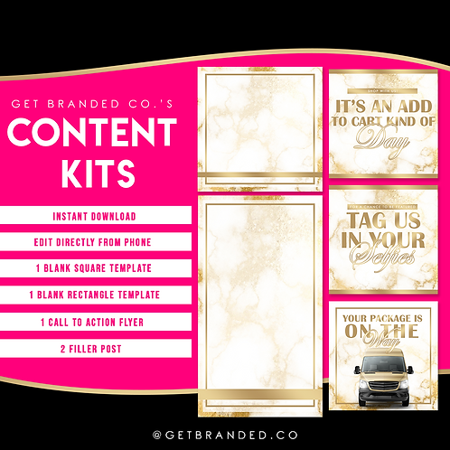 White & Gold Luxe | Content kit (5)
