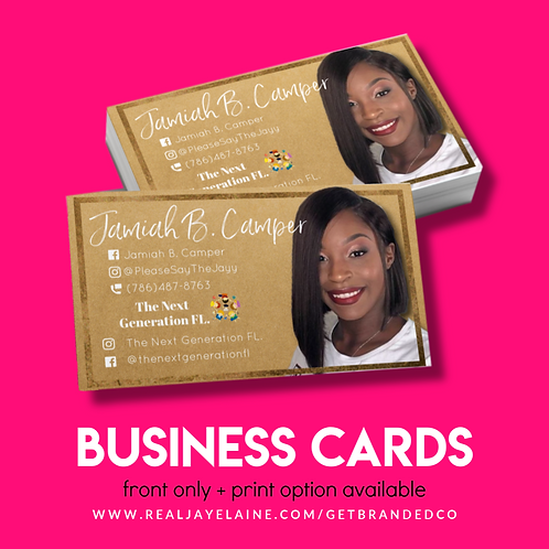 Business Cards | Front Only