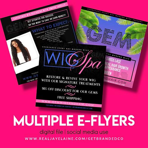 Multiple E-Flyers Design