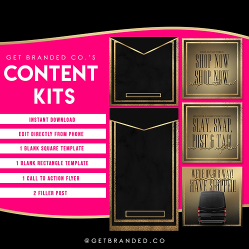Black & Gold luxe | Content kit (5)