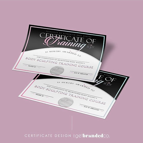 Custom Certificate Design