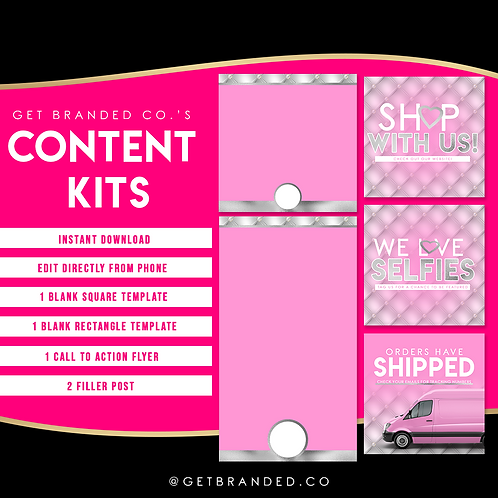 Pink & Silver Tufted | Content kit (5)