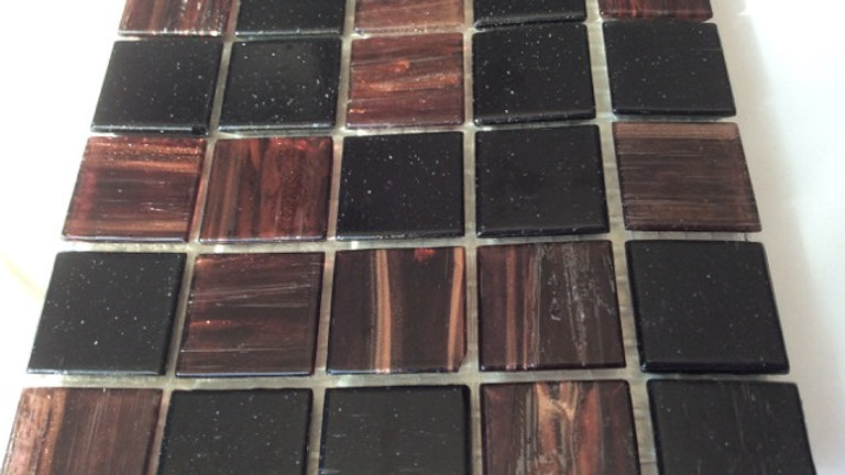 Bisazza Blend: 75 Tiles Brown/Black tones