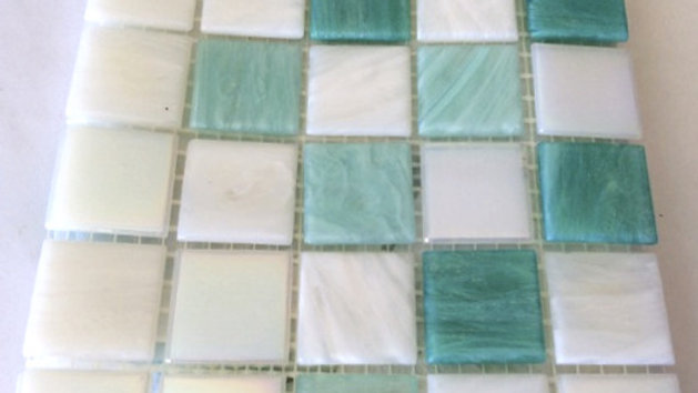 Bisazza Blends: 75 Light Green and White tiles