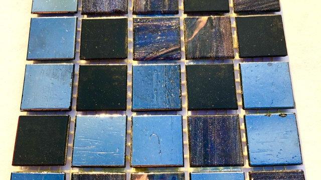 Bisazza Blends: 75 tiles: Shimmering Black