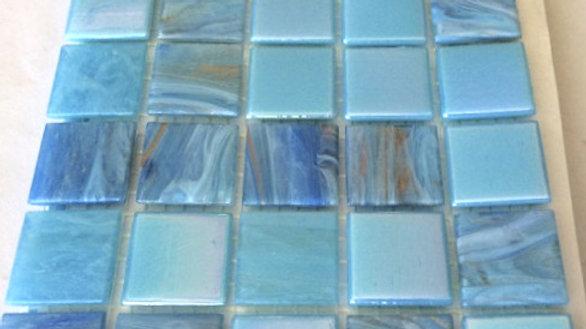 Bisazza Blend: 75 Tiles Aqua tones