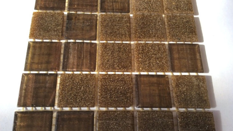 Bisazza Blend: 75 Tiles Choc Brown tones