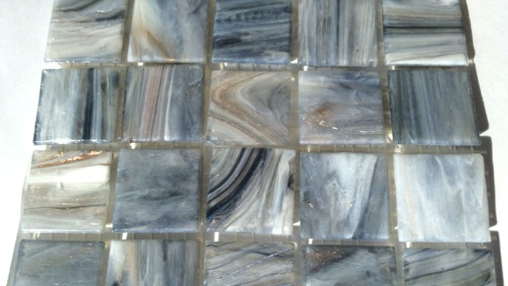 Bisazza Le Gemme: 75 GM86 Grey swirl tiles