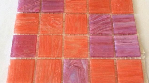 Bisazza Blends: 75 melon mosaic tiles