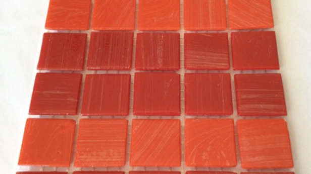 Bisazza Vetricolour: 75 red tiles