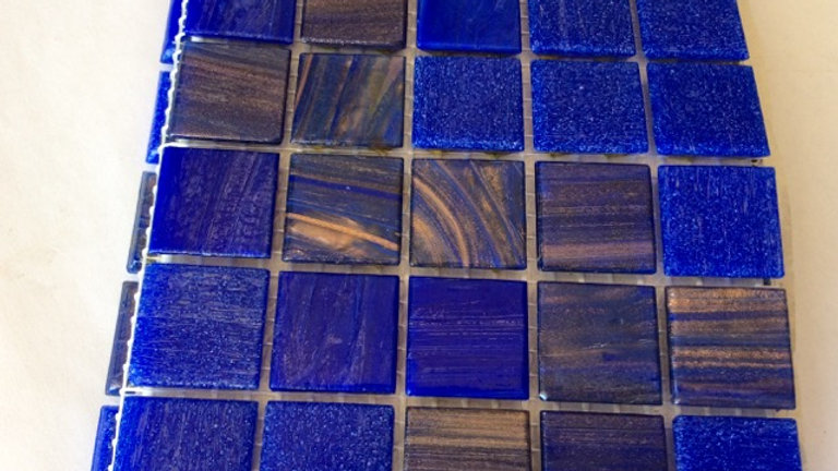 Bisazza Vetri/Smalto: 75 Tiles Deep Blue Blend tones