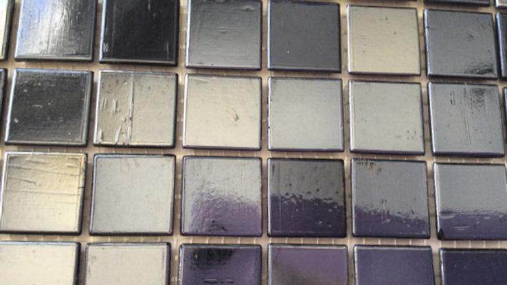 Bisazza Tiles: 75 Platinum black mosaic tiles