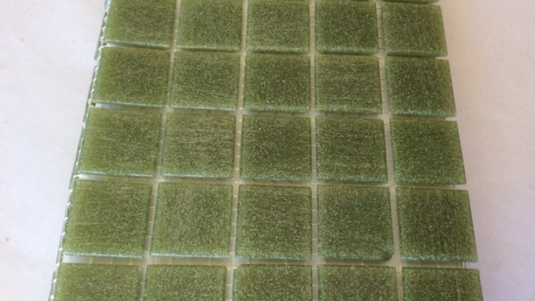 Bisazza Vetricolour: 75 Mid-Green tiles