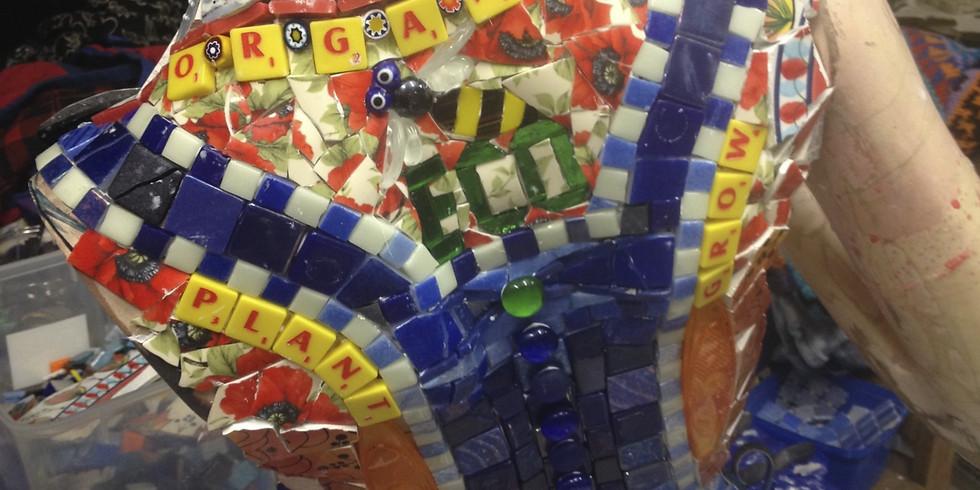 4 Week Tues AM 'Crocktober' mosaic workshop