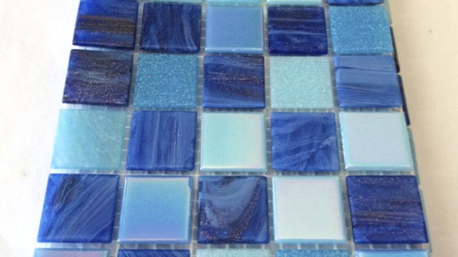 Bisazza Blend: 75 Tiles Blue tones