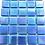 Thumbnail: 25pcs: Aqua Blue irridised on mesh