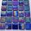 Thumbnail: 25pcs Phthalo Blue Irridised Glass mosaic tiles on mesh
