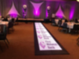 Runway, Fashion show, Corporate event, Lighted Floor, Chicago wedding, Lighted Runway,