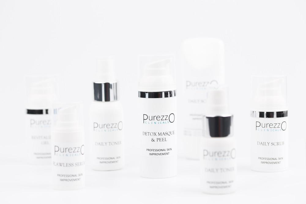 PurezzO Clinicals is een uitgebreide lijn geformuleerd uit hoogwaardige natuurlijke ingrediënten.