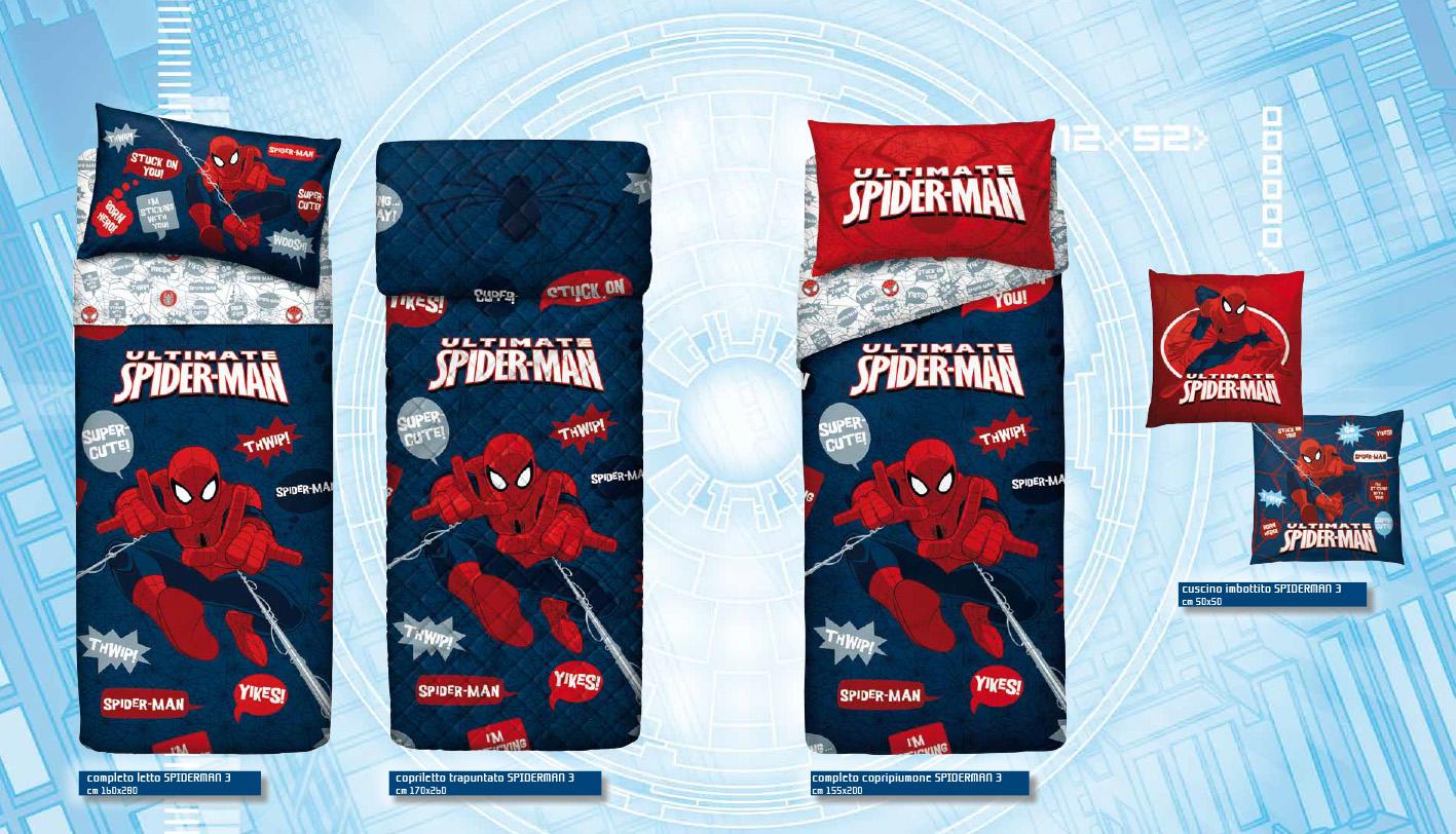 Spider-Man arredo letto blu