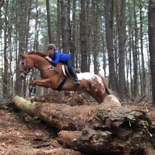 Meg & Rookie Ride in the Woods