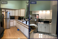 White shaker remodel before and after