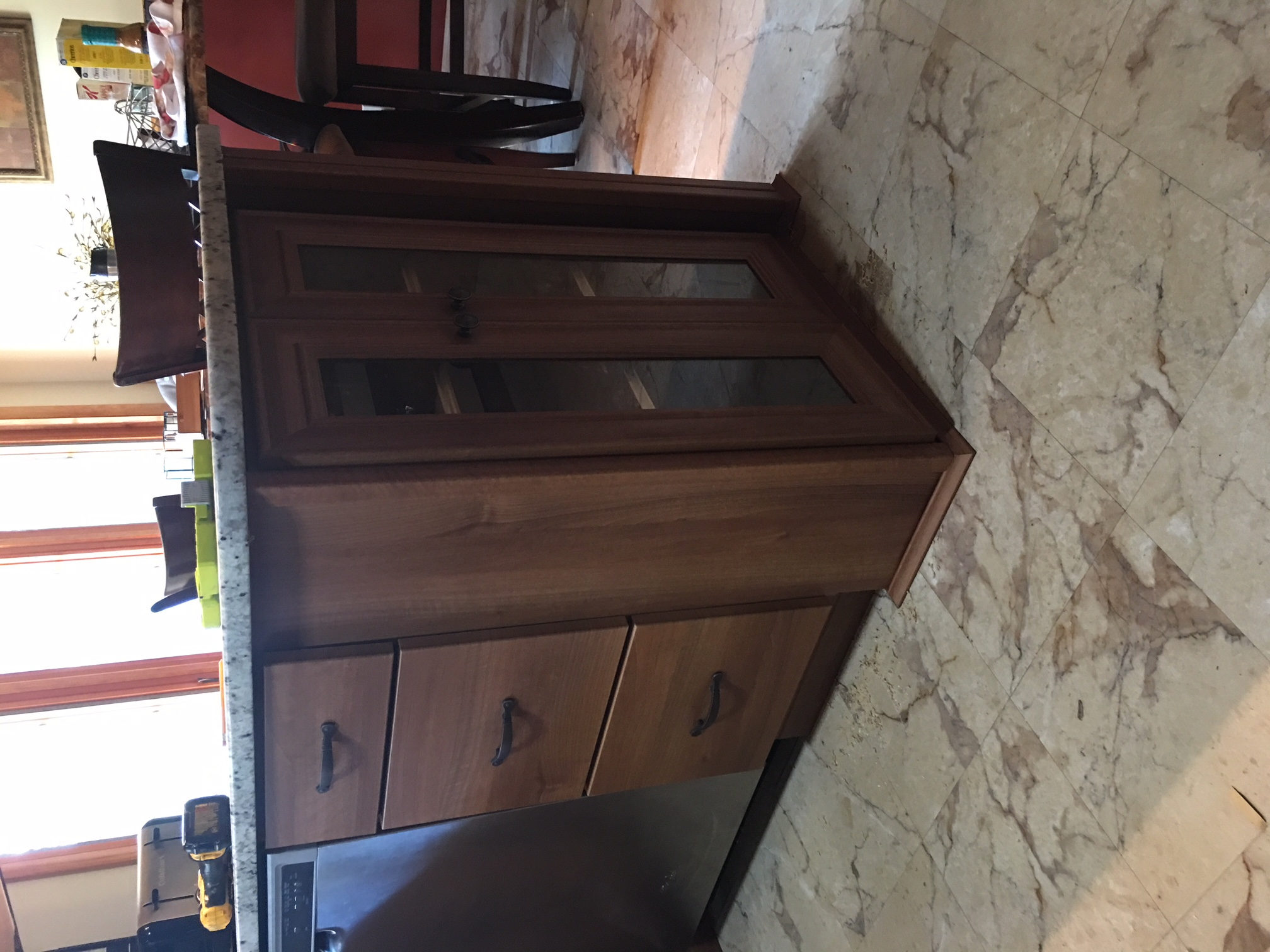 Custom Wine Glass Cabinet