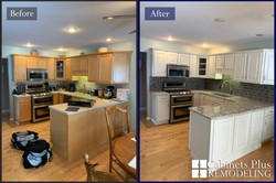 Beautiful bisque kitchen before and afte