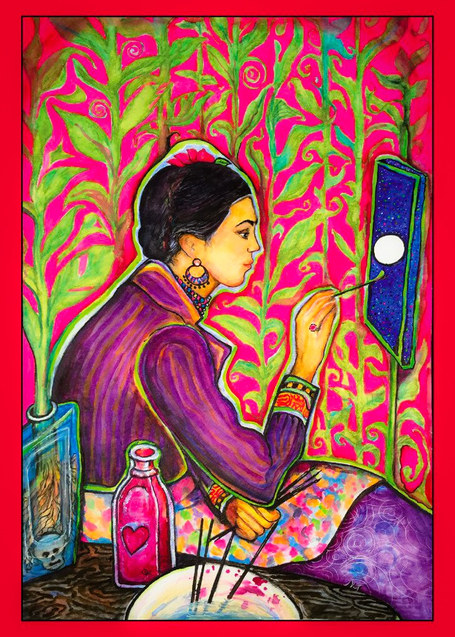 Frida Kahlo Moon por Paula Franco