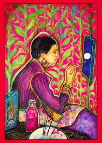 Frida Kahlo  por Paula Franco