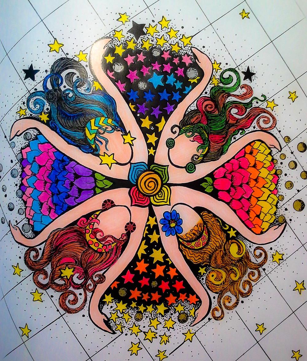 gracias por compartir! los mandalas coloreados de La Diosa Ancestral