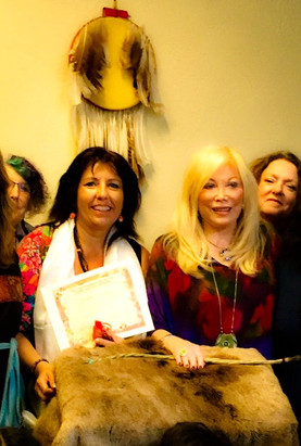 con Lynn Andrews, en Phoenix