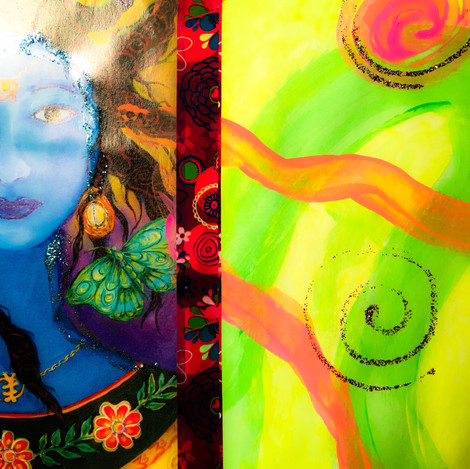Pintura intuitiva collage
