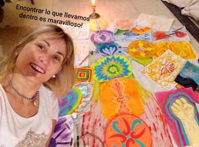 pintura intuitiva con Paula Franco