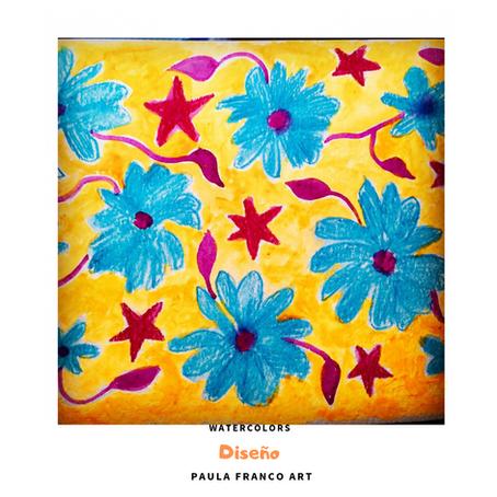 Muestra de Patron de  Diseño Floral