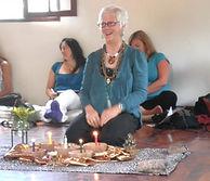 Vicki Noble, en su taller del  Mandala d