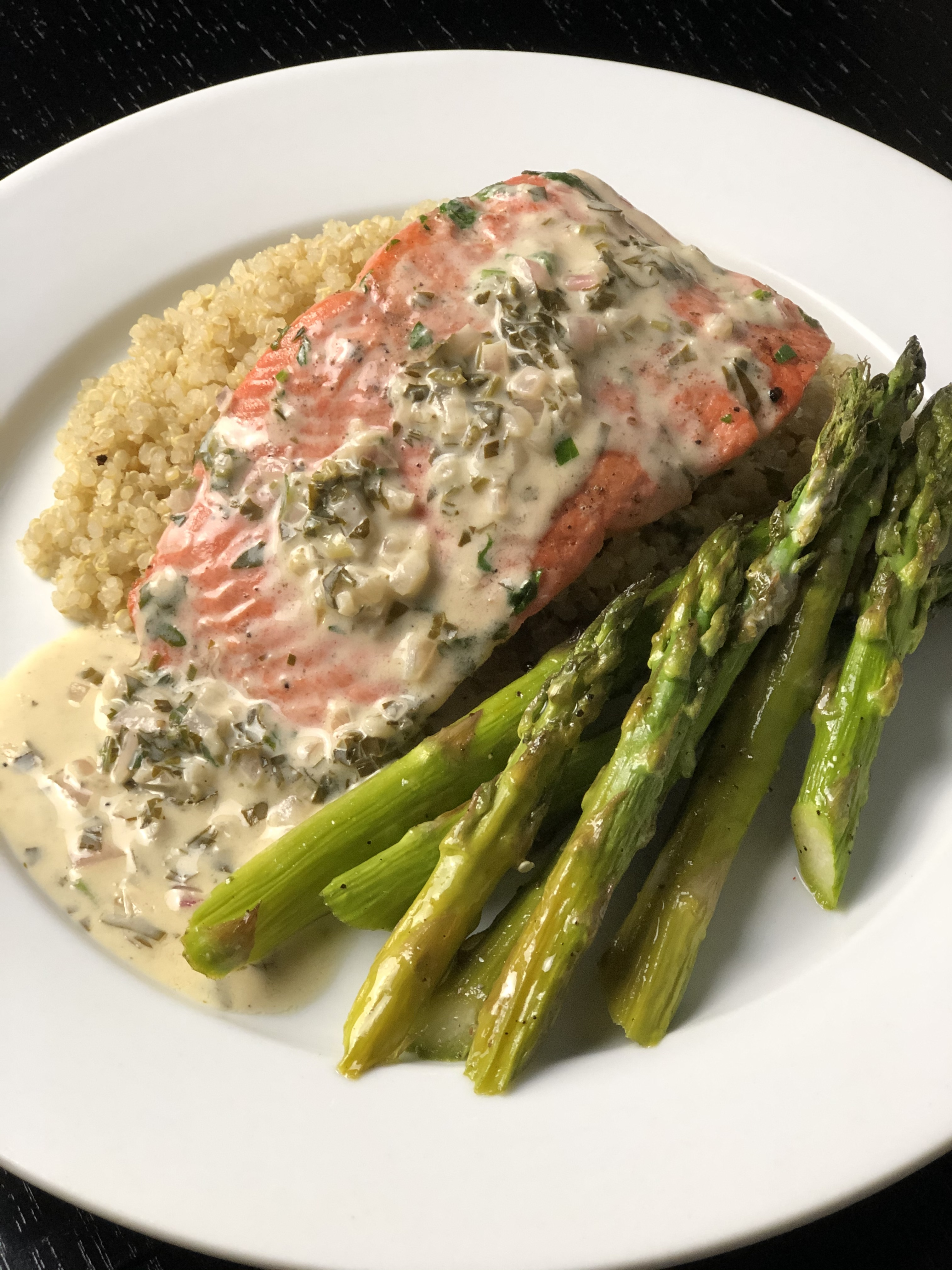 Salmon with Lemon Butter Cream