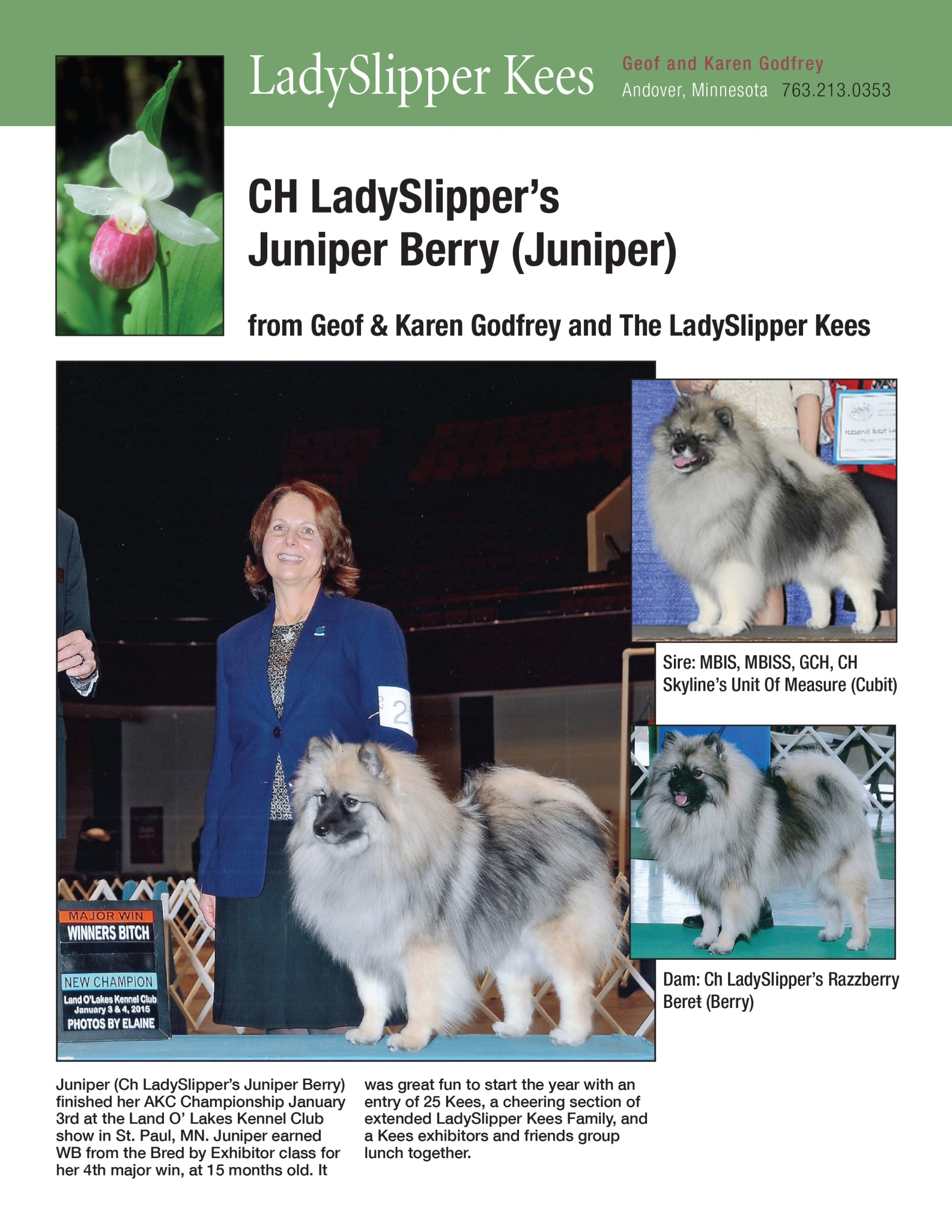 Godfrey's Juniper Ad - Jan-Feb 2015