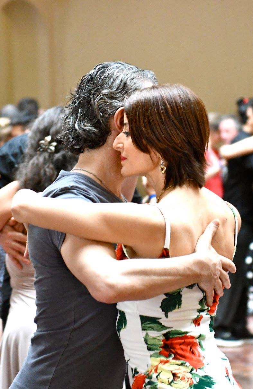 Monica Lusoli Tango dancing Salle communale de Plainpalais