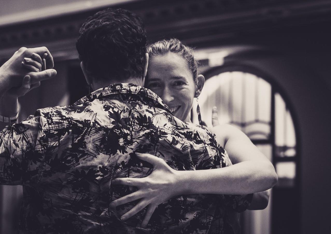 Tango dancing couple Tic-Tac-Tango-Time